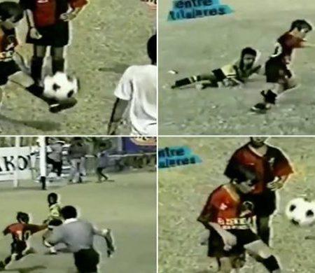 Vídeo de Messi a jogar num torneio pelo Newell's Old Boys com apenas 8 anos é do outro mundo