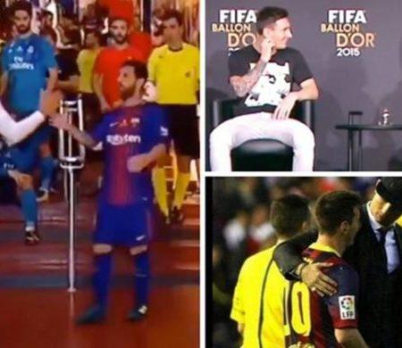 Vídeo mostra o respeito enorme que Cristiano Ronaldo e Messi têm um pelo outro
