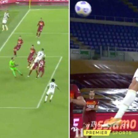 Cristiano Ronaldo bate mais um recorde depois do golo de cabeça que marcou frente à Roma