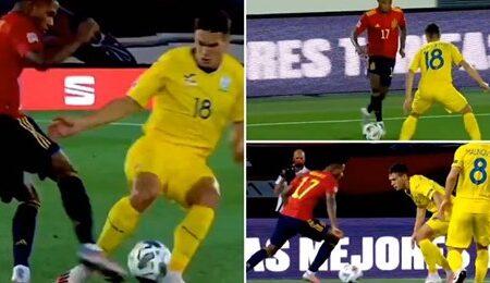 Destaques de Ansu Fati no seu primeiro jogo a titular por Espanha mostram que ele vai singrar