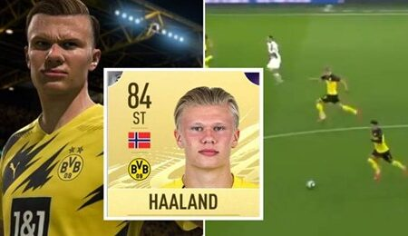 Vídeo fascinante prova que a EA Sports cometeu um erro com o rating do FIFA de Erling Haaland