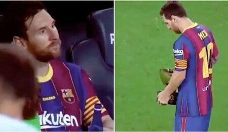 Vídeo da reação de Lionel Messi depois de ter ganho o Troféu Joan Gamper está a tornar-se viral