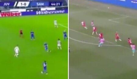 """Os últimos passes """"sem olhar"""" de Lionel Messi e Cristiano Ronaldo foram comparados e as diferenças estão à vista"""