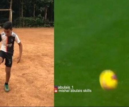 Jovem indiano imita as habilidades de Cristiano Ronaldo na perfeição