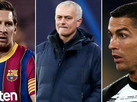 José Mourinho acaba com o debate Lionel Messi vs. Cristiano Ronaldo