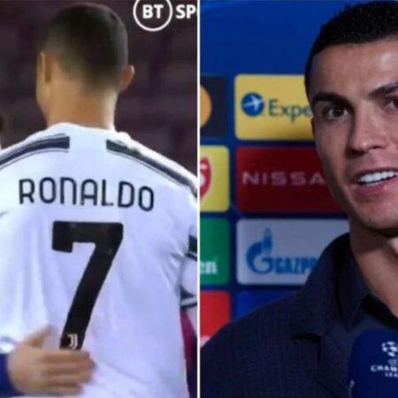 Cristiano Ronaldo falou do coração sobre Lionel Messi depois da vitória da Juventus por 3-0 frente ao Barcelona