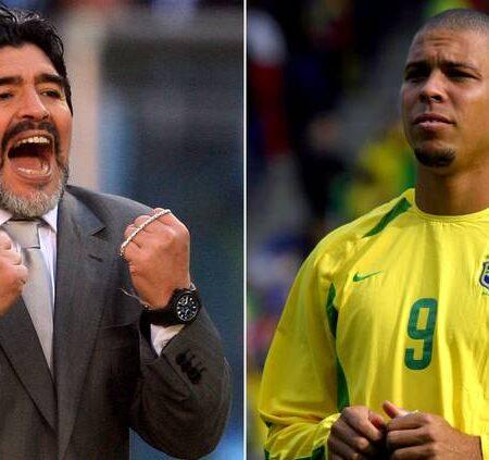 Ronaldo explica o motivo brilhante pelo qual Diego Maradona usava sempre dois relógios