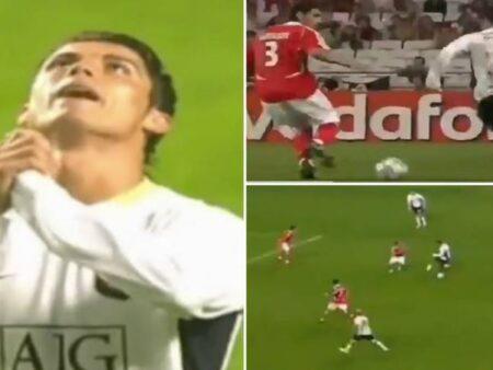 Cristiano Ronaldo chegou a fazer 20 dribles num só jogo