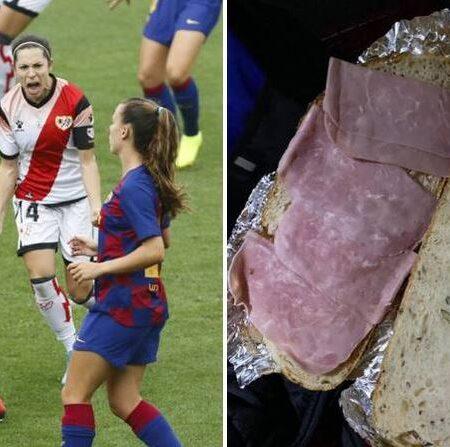 Equipa de futebol feminino queixa-se depois de o clube lhes ter dado sandes de fiambre como refeição pós-jogo
