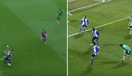 Compilação de Lionel Messi a enganar os adversários sem tocar na bola prova que ele é um génio