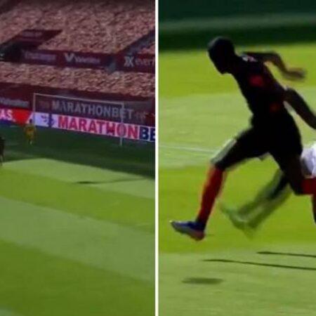 Diego Carlos marca incrível auto-golo a 20 metros