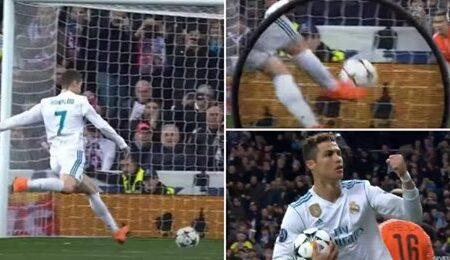 Cristiano Ronaldo marcou um golo absurdo de penálti que desafia todas as leis da física