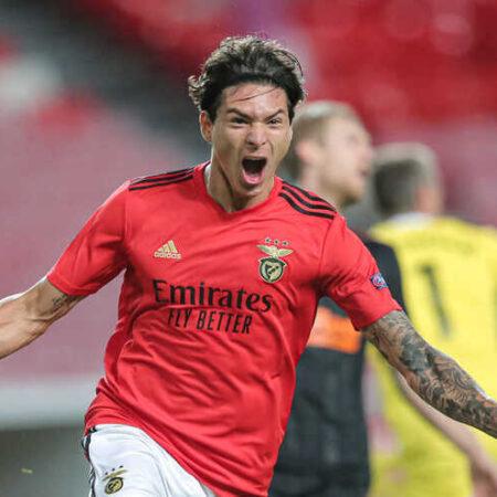 Milan desiste de Darwin após o Benfica pedir 50 milhões de euros